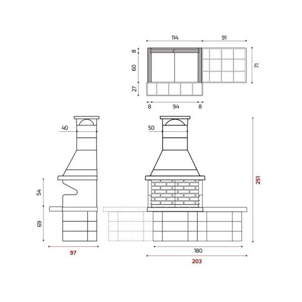 BARBECUE 200 - Barbecue in muratura