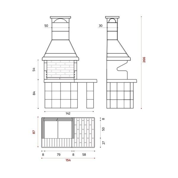 PRIMAVERA XL - Barbecue in muratura