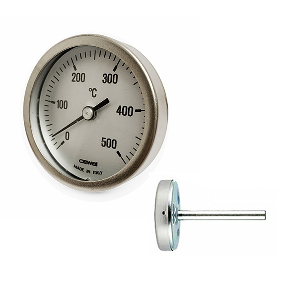 Termometro per forno con stelo cm 5 - Accessori Forni Pizza