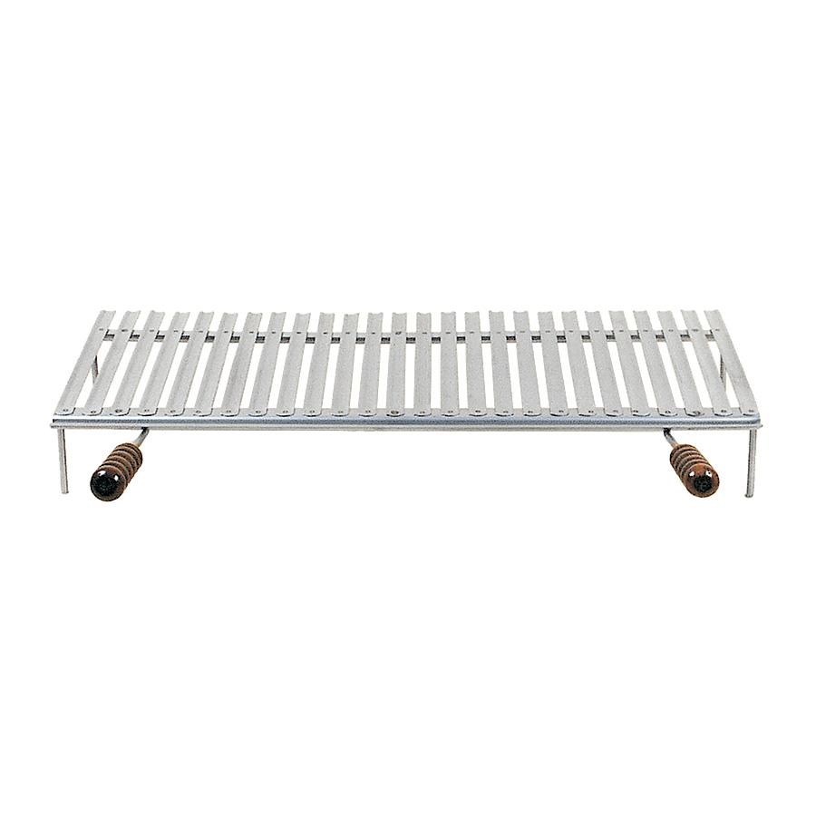 Graticola raccoglisugo in acciaio inox con piedi - Accessori Barbecue