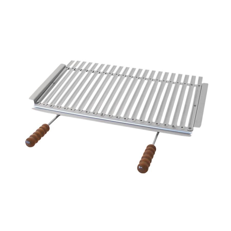 Graticola raccoglisugo in acciaio inox con telaio - Accessori Barbecue