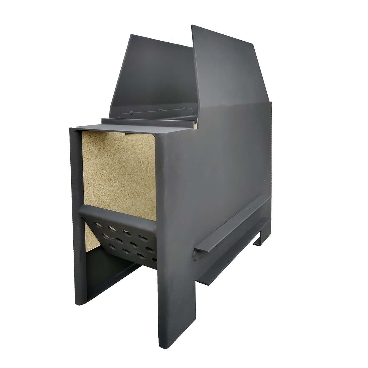 Kit fuoco - Brucialegna con protezione - Accessori Barbecue